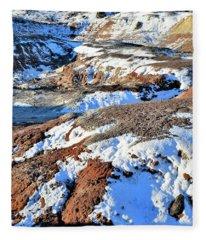 Bentonite Dunes Of Ruby Mountain Fleece Blanket