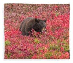 Berries For The Bear Fleece Blanket