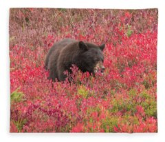Berries For The Bear Fleece Blanket