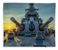 Big Guns At Sunet Fleece Blanket