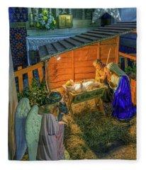 Birth Of Jesus Fleece Blanket