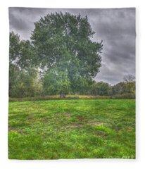 Blacklick Circle Earthwork Fleece Blanket