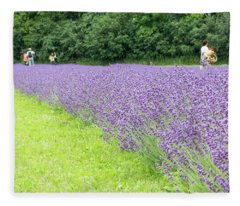 Blue Lavender Fleece Blanket