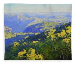 Blue Mountains Australia Fleece Blanket