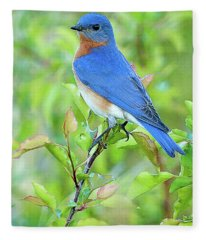 Bluebird Joy Fleece Blanket
