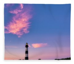 Bodie Island Lighthouse Fleece Blanket