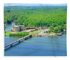 Bridgewater Plaza, Smith Mountain Lake, Va. Fleece Blanket