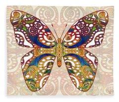 Butterfly Illustration - Transforming Rainbows  - Omaste Witkowski Fleece Blanket