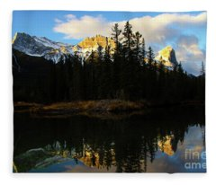 To The Wild Country Canadian Rocky Mountains 1 Fleece Blanket