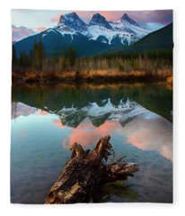 To The Wild Country Canadian Rocky Mountains 2 Fleece Blanket