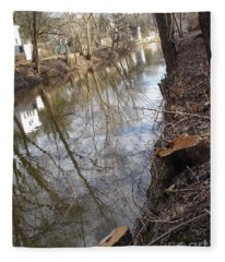 Canal Stumps-002 Fleece Blanket
