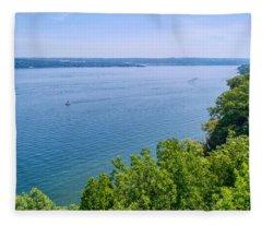 Cayuga Lake Fleece Blanket