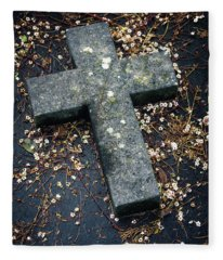 Cemetery Cross Fleece Blanket