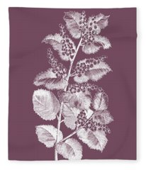 Cerasus Purple Flower Fleece Blanket