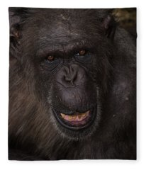 Chimpanzee Fleece Blanket