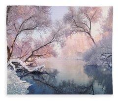 Christmas Lace Fleece Blanket