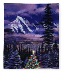 Christmas Tree Land Fleece Blanket