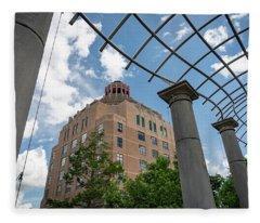 City Hall View Fleece Blanket