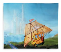 City On The Sea Fleece Blanket