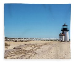 Coastal Brant Light House Fleece Blanket