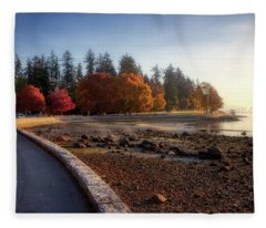 Colorful Autumn Foliage At Stanley Park Fleece Blanket