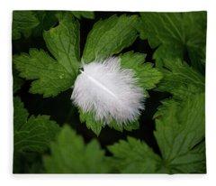 Colours. White Fleece Blanket