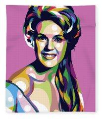 Connie Stevens Fleece Blanket