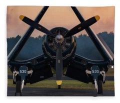 Corsair At Dusk Fleece Blanket