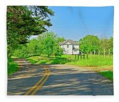 Country Roads Of America, Smith Mountain Lake, Va. Fleece Blanket