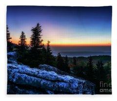Dawn At Bear Rocks Preserve Fleece Blanket