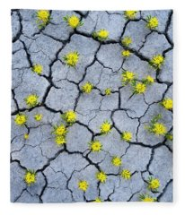 Desert Flowers Fleece Blanket