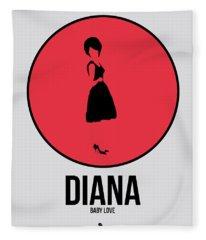 Diana Ross Fleece Blanket