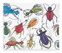 Doodle Bugs Fleece Blanket