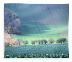 Autumn In South Moravia 1 Fleece Blanket