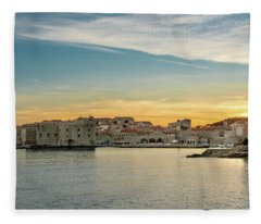 Dubrovnik Old Town At Sunset Fleece Blanket