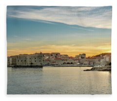 Dubrovnik Old Town At Sunset Fleece Blanket