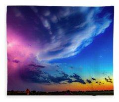 Epic Nebraska Lightning 007 Fleece Blanket