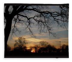 Evening Fades Away Fleece Blanket