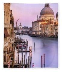 Evening Light In Venice Fleece Blanket