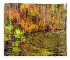 Fall Reflections Fleece Blanket
