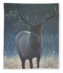 First Light - Bull Elk Fleece Blanket