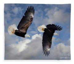 Fly Like An Eagle Fleece Blanket