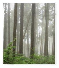 Foggy Forest Fleece Blanket