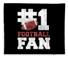 #1 Football Fan Fleece Blanket
