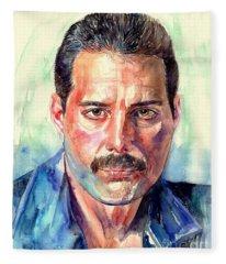 Freddie Mercury Painting Fleece Blanket