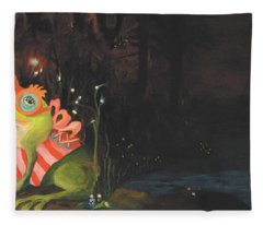 Frogs Of Silver Lake Fleece Blanket