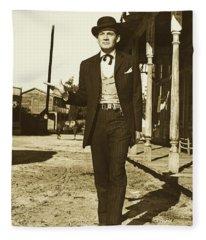 Gene Barry As Bat Masterson - 1958 Fleece Blanket