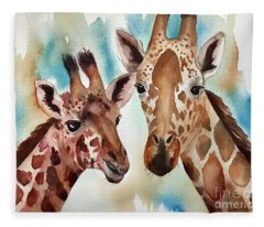 Giraffes Fleece Blanket
