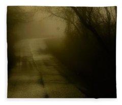 Golden Fog Fleece Blanket