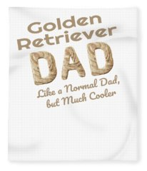 Golden Retriever Dad Dog Lover Fleece Blanket